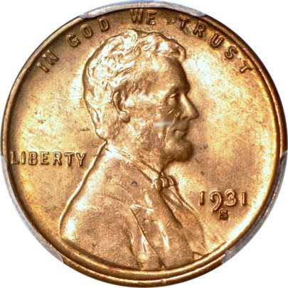 PCGS 1931-S Lincoln Cent MS63RB