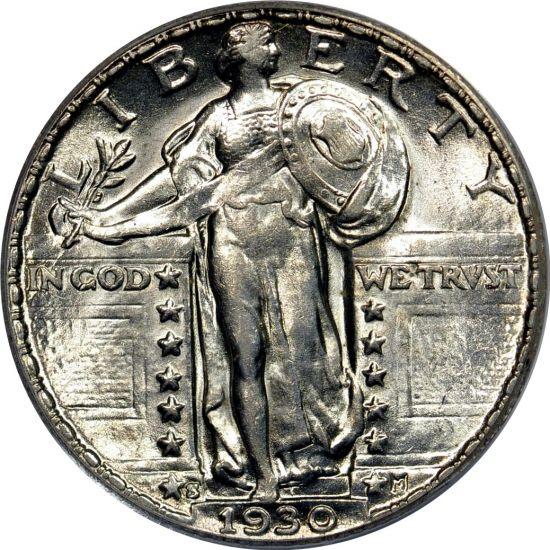 1930 Standing Liberty Quarter AU58 PCGS